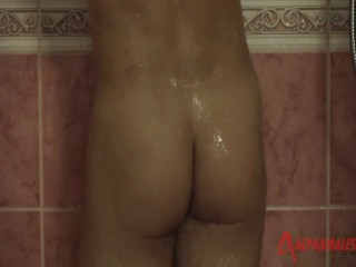 Muscle Bear Shower and Stroke