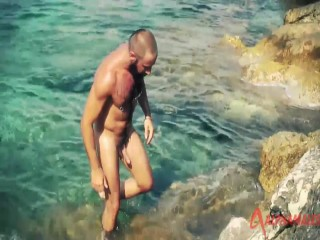 Bearded Athletic Bear Goes Skinny Dipping