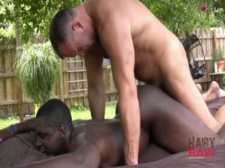 Interracial Muscle Stud Outdoor Fuck