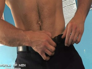 Dreamy Athletic Hunk Solo Dildo Play